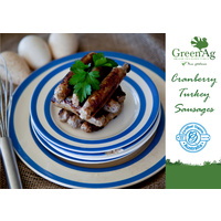 Organic Cranberry Turkey Sausages
